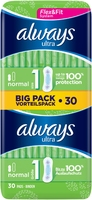 Always Ultra Normal Sanitary Towels Size 1 30s