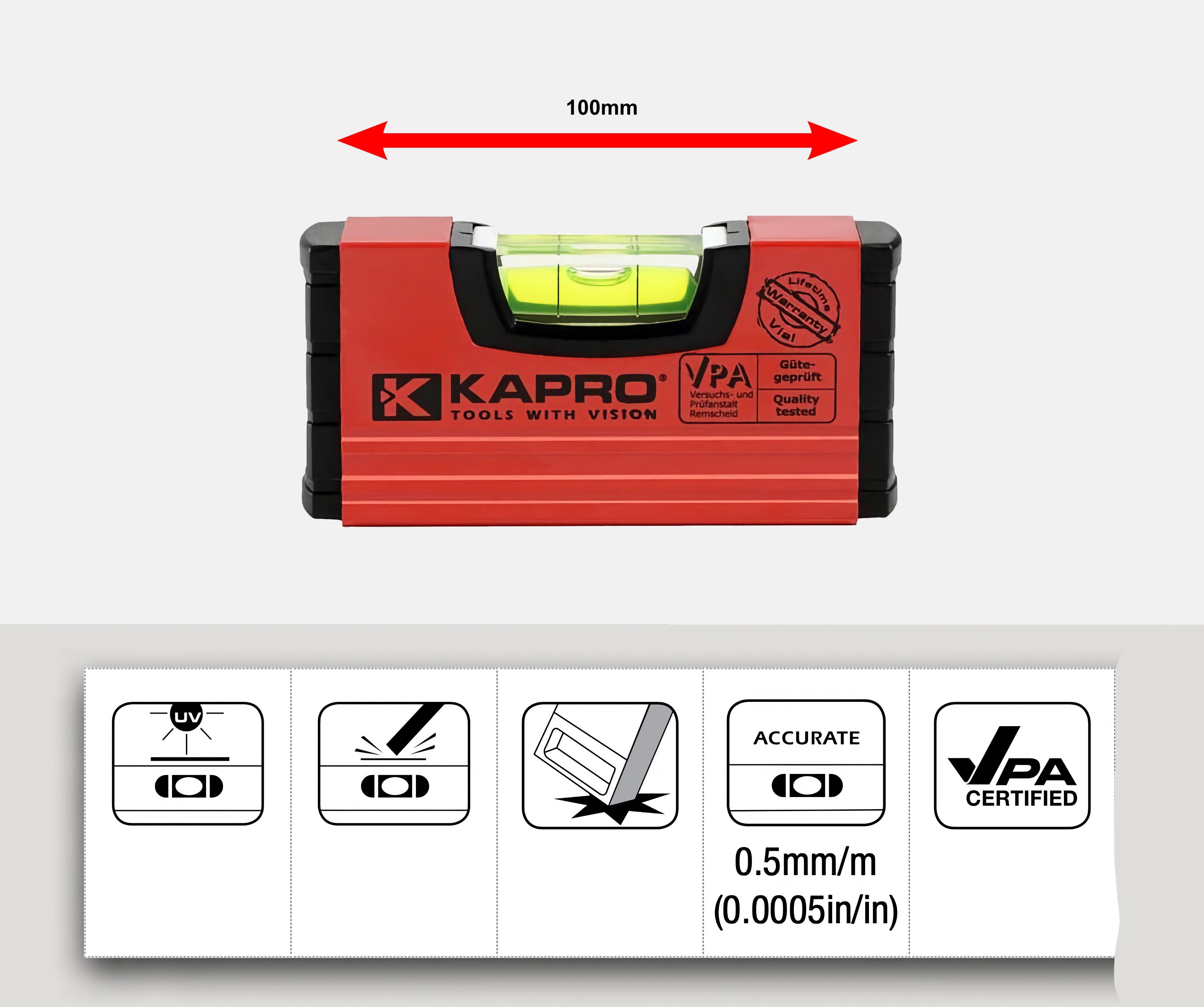 K246 KAPRO TOOLBOX HANDY LEVEL 10CM