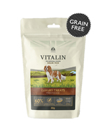 Vitalin Natural Luxury GRAIN-FREE Dog Treats - Duck 80g x 8