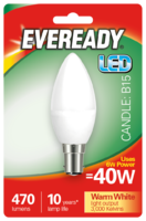 EVEREADY 6W (40W) B15 LED CANDLE 470 LUMENS
