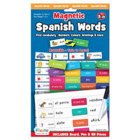 Magnetic Spanish Words.