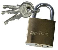 Amtech 25mm Brass Padlock