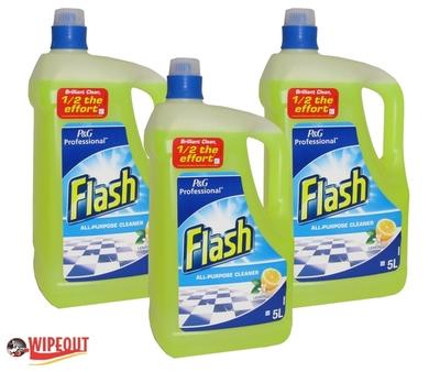 FLASH ALL PURPOSE LEMON 3x5ltr