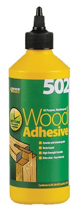 Everbuild 502 Water Resistant Wood Adhesive 1Litre