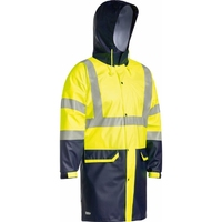 Bisley Hi Vis Day/Night Stretch PU Rain Jacket 20,000mm