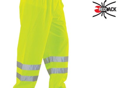 REDBACK Dri-Flex PU Hi-Visibility Waterproof Trousers Yellow