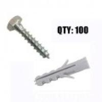 Sat. Anchor bolts M10x50 Coach Screw 50/50