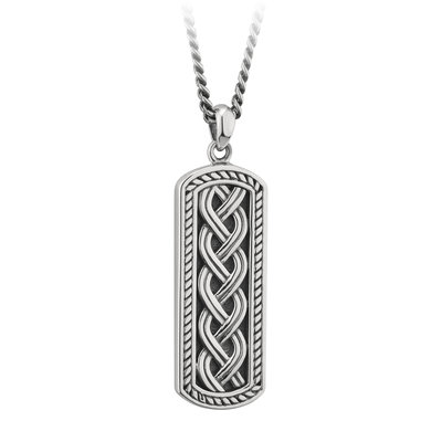 SILVER OXIDISED CELTIC INGOT PENDANT (BOXED)