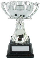 14.5cm Silver Metal Cup with Centre on Black