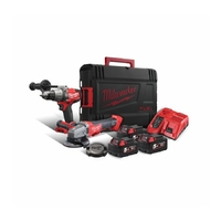 MILWAUKEE M18FPP2AA-503X FUEL DRILL/GRINDER PROMO POWER PACK