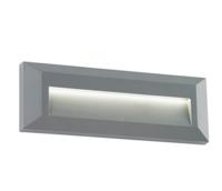 Rectangular  led bricklight Severus landscape indirect IP65 2W warm white grey finish