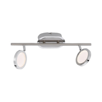 Paul Neuhaus Nola Warm White 2 x 4.6W LED Stainless Steel Bar Light | LV2002.0003