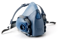 3M 7502 MED 7500series REUSABLE SILICONE HALFMASK W/ COOL FLOW EXHALATION VALVE (Ploughing Special Discount Price)