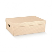 BOX NUDE EMB 530X435X180MM MARM.