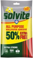 SOLVITE ALL PURPOSE WALLPAPER ADHESIVE ECONOMY 15 ROLL (50% EXTRA)