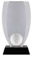 18cm Crystal Golf Ball Award (Plain Box)