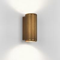 ASTRO JURA TWIN EXTERIOR WALL LIGHT ANTIQUE BRASS