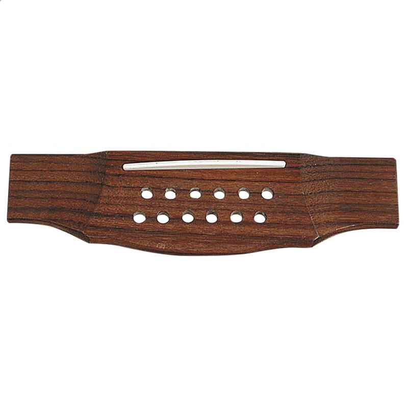 Acoustic guitar bridge 12 string rosewood