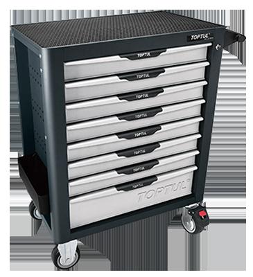 448Pc W/8-Drawer Tool Trolley | Toptul QGE44803