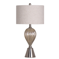 Tishan Home Traun Table Lamp Glass with