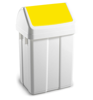 Max Swing Bin and Lid Yellow 25Ltr