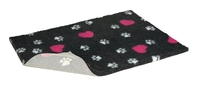 """Petlife Vetbed Charcoal & Cerise Hearts 40"""" x 30"""" x 1"""