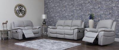 Serena Leather Sofa 2 Grey