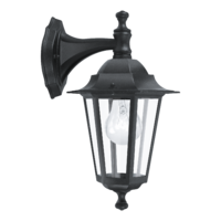 EGLO Laterna 4 Black Lantern Drop Down IP44 Wall Light | LV1902.0114