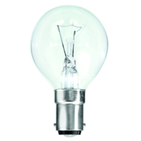 TOUGH LAMP - GOLF BALL 45MM   240/50V 40WATT SBC/B15 CLEAR