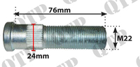 Wheel Stud for Braked Axle 22mm