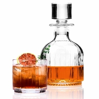 Crystal Combo 3 Piece Set Stackable Whisky Decanter and Tumblers