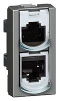 Arteor Wiring Splitter Data/Telephone - Magnesium  | LV0501.2559