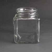 275ml Square glass jar