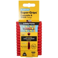 PLASPLUG RED SUPERGRIP FIXINGS
