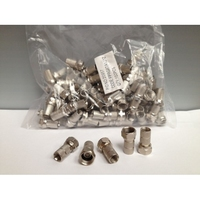 F.Connectors 6.1mm (100)