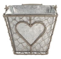 Iron Basket Square/Metal Pot