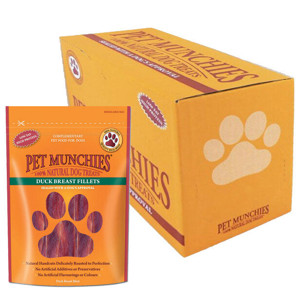 Pet Munchies Duck Fillet Dog Treats 8 x 80g
