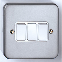 10A 3 Gang 2 Way Metal Clad Switch