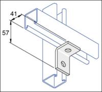 R/A BRACKET 1 HOLE(MSA600)