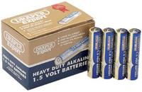 Draper AAA Heavy Duty Alkaline Battery Pack of 24