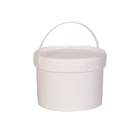 Round Snap Shut Pail With Plastic Handle