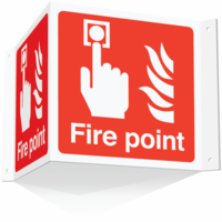 Fire Point Projecting 3D Sign