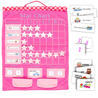 Star Chart Wall Hanging - Pink