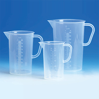Jug 3000ml Transparent Pp Tall Form With Handle