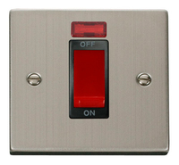 Click Deco Victorian Stainless Steel with Black Insert Small Cooker Switch   LV0101.0090