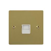 Flat Plate Polished Brass 1G MASTER Socket WH|LV0701.0583