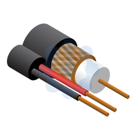 RG59 Data / CCTV + 2 Core Power Cable Black 100mtr Reel