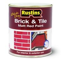 RUSTINS BRICK & TILE PAINT MATT RED 2.5LTR