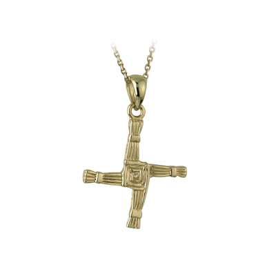 14K SMALL  ST BRIGIDS CROSS