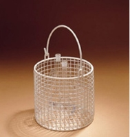 Basket Cylindrical With Handle Nylon Coated W